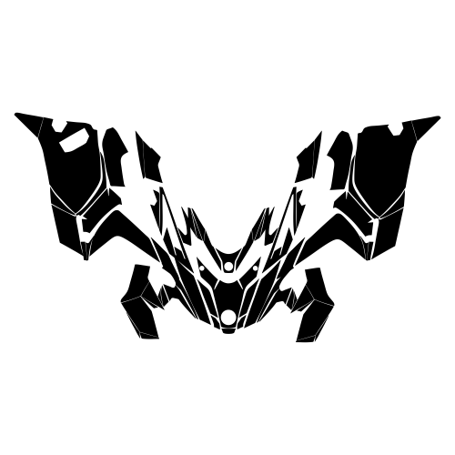 Lynx Rave 600 850 2018 2019 Hood Graphic Templates